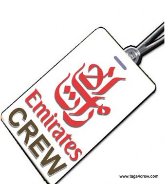 EMIRATES AIRLINE Crew Tag (Portrait style)